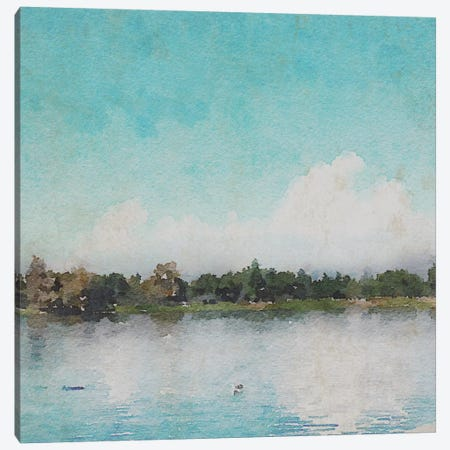 Sunrise In A Lake Canvas Print #ORL142} by Irena Orlov Canvas Print