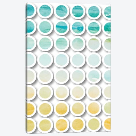 Industrial Mixed Media Circles Canvas Print #ORL164} by Irena Orlov Canvas Artwork