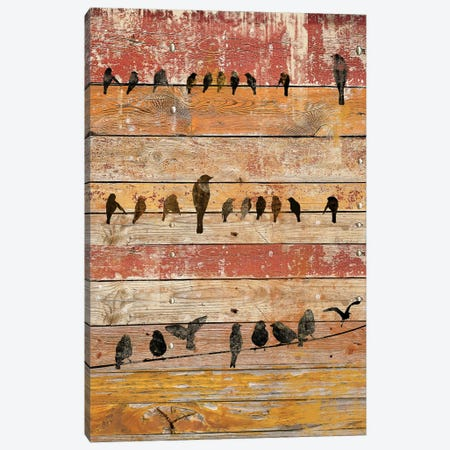 Birds on Wood II Canvas Print #ORL172} by Irena Orlov Canvas Art