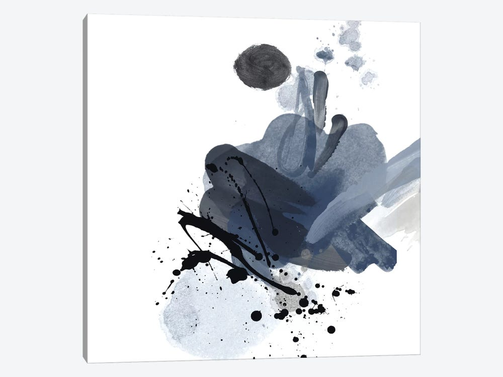 Blue & Black Splash I by Irena Orlov 1-piece Canvas Art Print