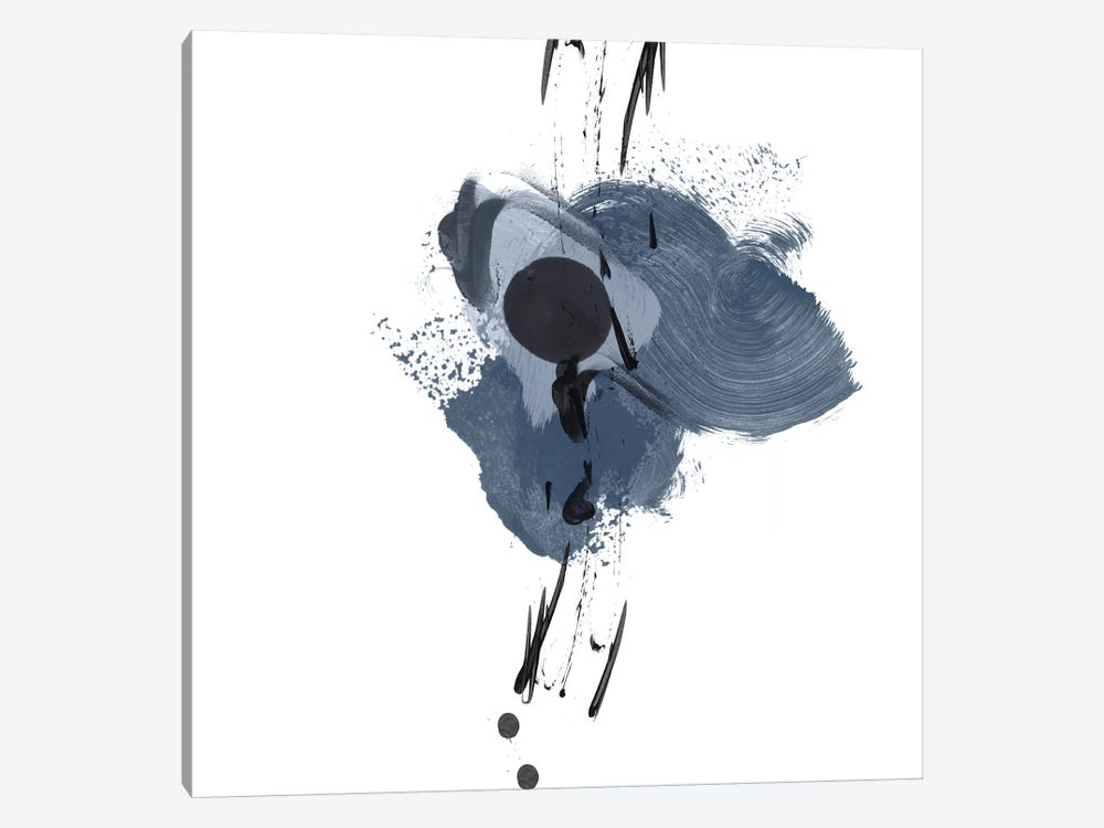 Blue & Black Splash II by Irena Orlov 1-piece Canvas Artwork