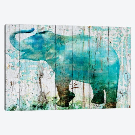 Blue Elephant Canvas Print #ORL183} by Irena Orlov Canvas Art Print