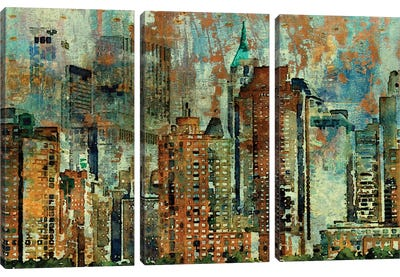 Colorful New York Canvas Art Print