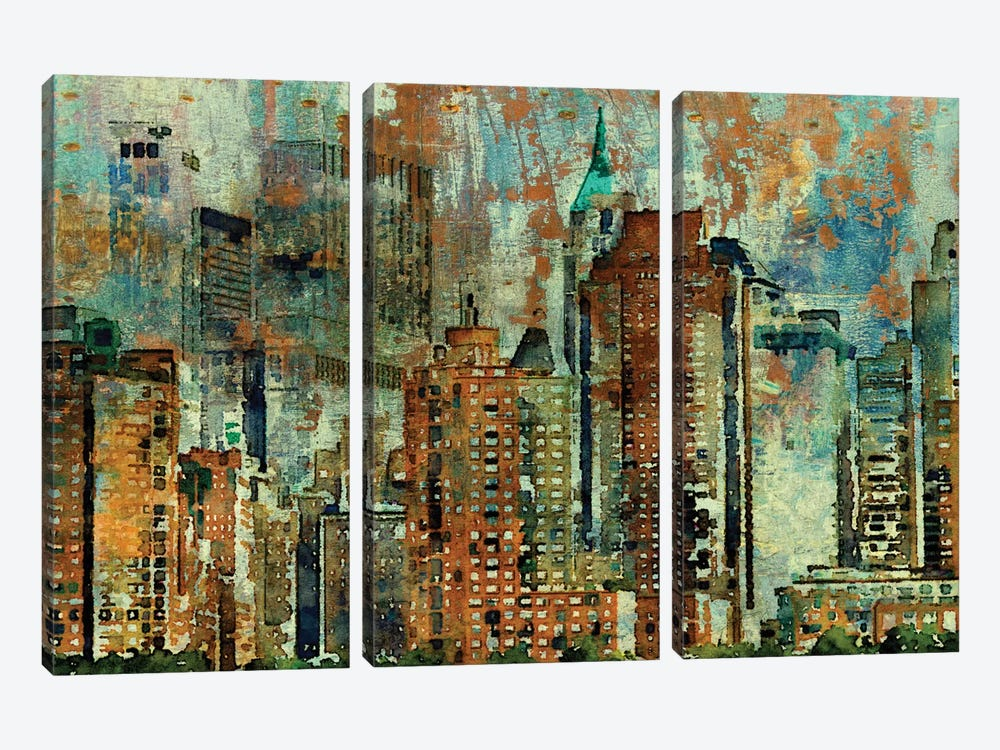 Colorful New York by Irena Orlov 3-piece Canvas Wall Art