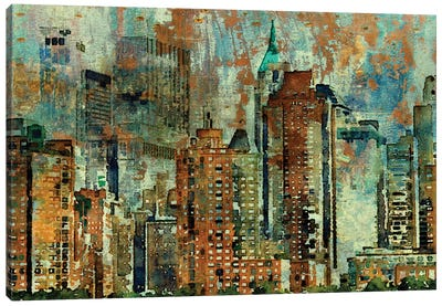 Colorful New York Canvas Art Print