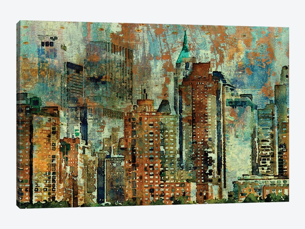 Colorful New York 1-piece Canvas Wall Art