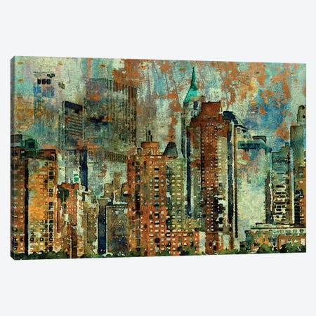 Colorful New York 3-Piece Canvas #ORL19} by Irena Orlov Canvas Print