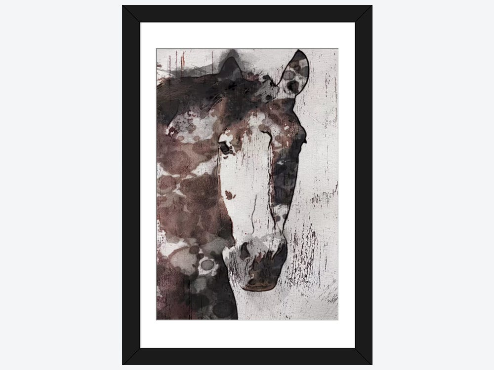 gorgeous horse iv 1 piece framed print