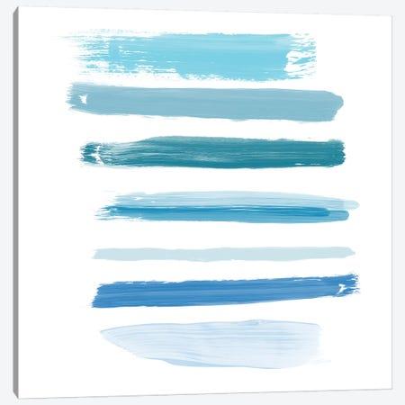 Aqua Brush III Canvas Print #ORL229} by Irena Orlov Canvas Artwork
