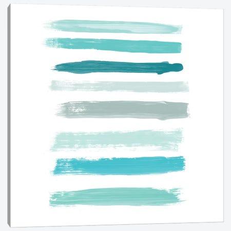 Aqua Brush IV Canvas Print #ORL230} by Irena Orlov Canvas Print