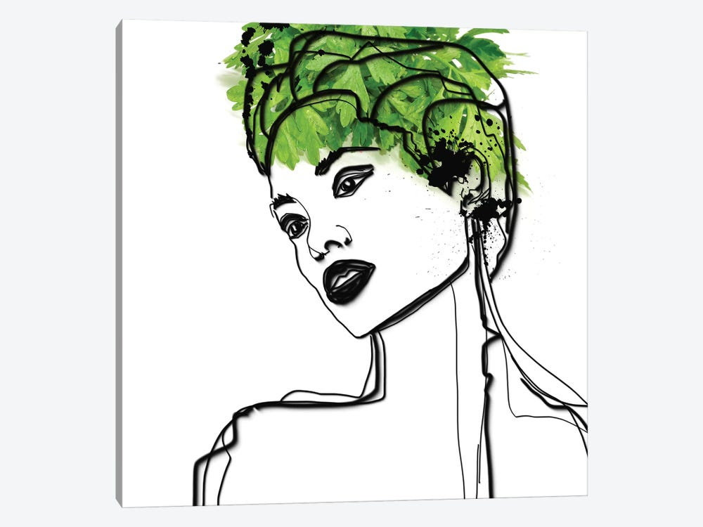 Green Beauty by Irena Orlov 1-piece Canvas Artwork