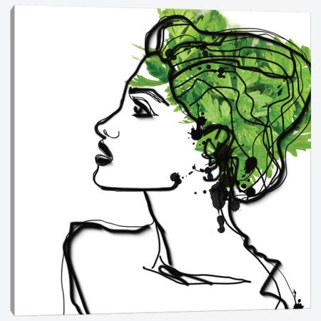 Parsley Hair Canvas Print #ORL254} by Irena Orlov Canvas Art