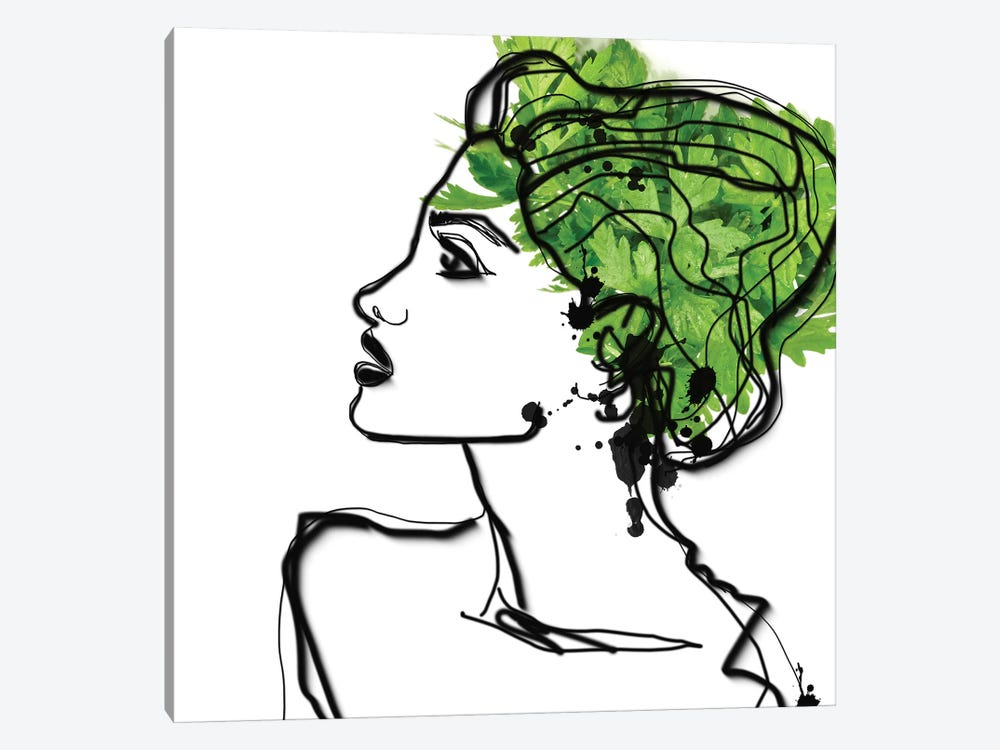 Parsley Hair by Irena Orlov 1-piece Canvas Print