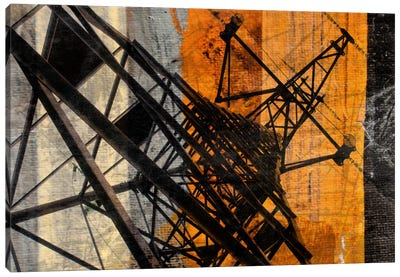 High-Voltage Tower Canvas Art Print