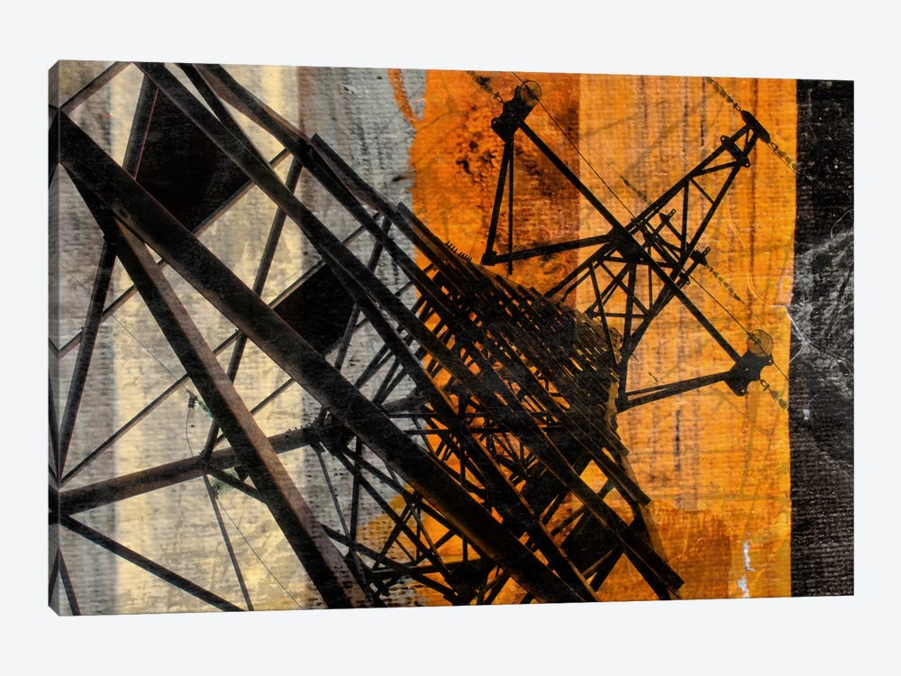 High-Voltage Tower 1-piece Canvas Print