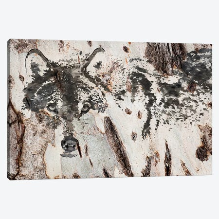 Rustic Wolf III Canvas Print #ORL262} by Irena Orlov Canvas Wall Art