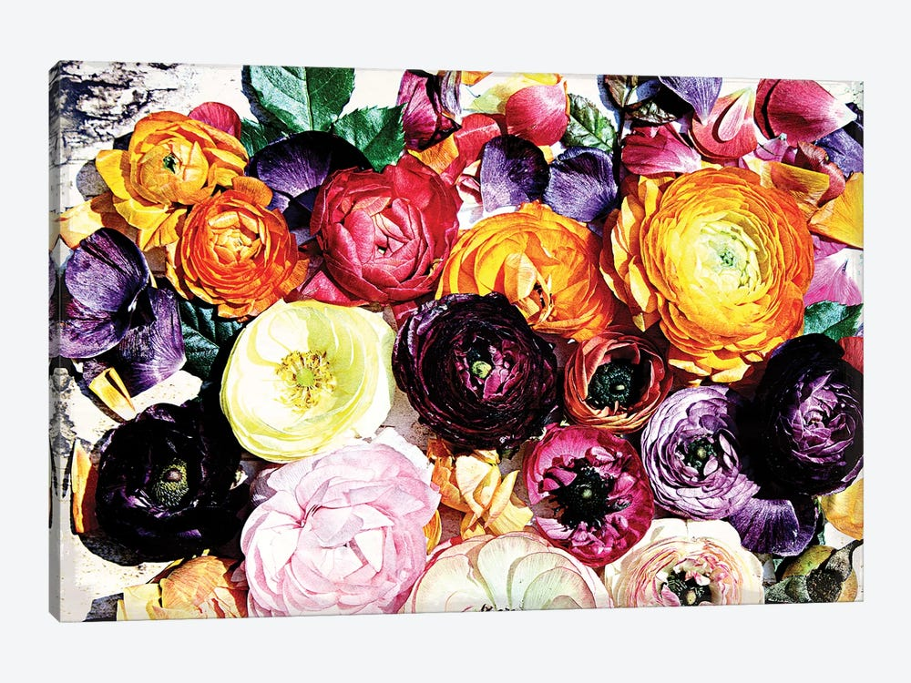 Shabby Chic Flowers 39a by Irena Orlov 1-piece Canvas Wall Art