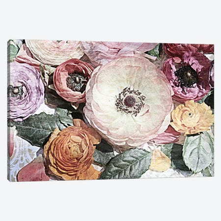 Shabby Chic Flowers 81 3-Piece Canvas #ORL266} by Irena Orlov Canvas Print