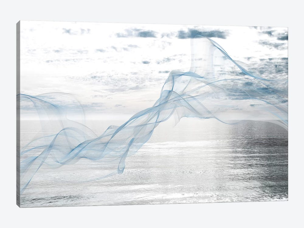 Silver Ocean Breeze 5 by Irena Orlov 1-piece Canvas Wall Art