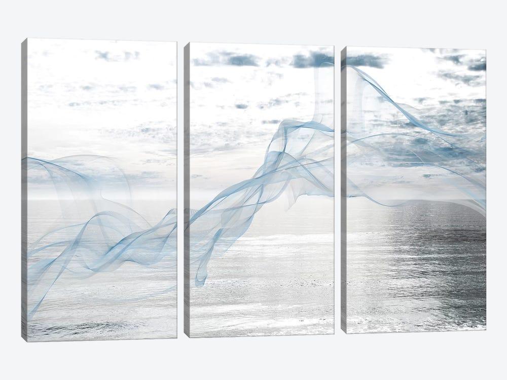 Silver Ocean Breeze 5 by Irena Orlov 3-piece Canvas Wall Art