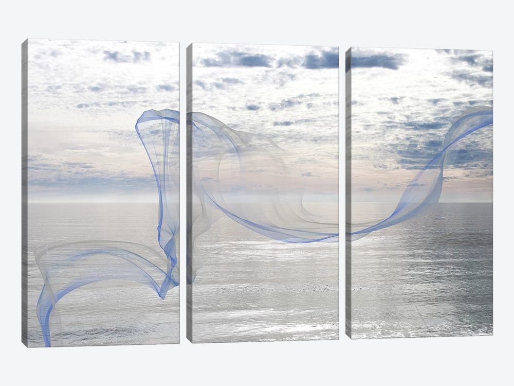 Silver Ocean Breeze 11 by Irena Orlov 3-piece Art Print