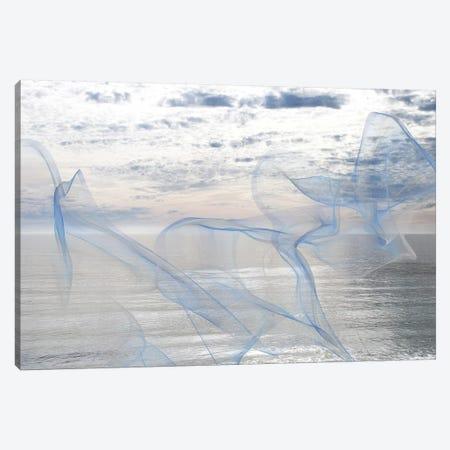 Silver Ocean Breeze 17 3-Piece Canvas #ORL271} by Irena Orlov Canvas Print