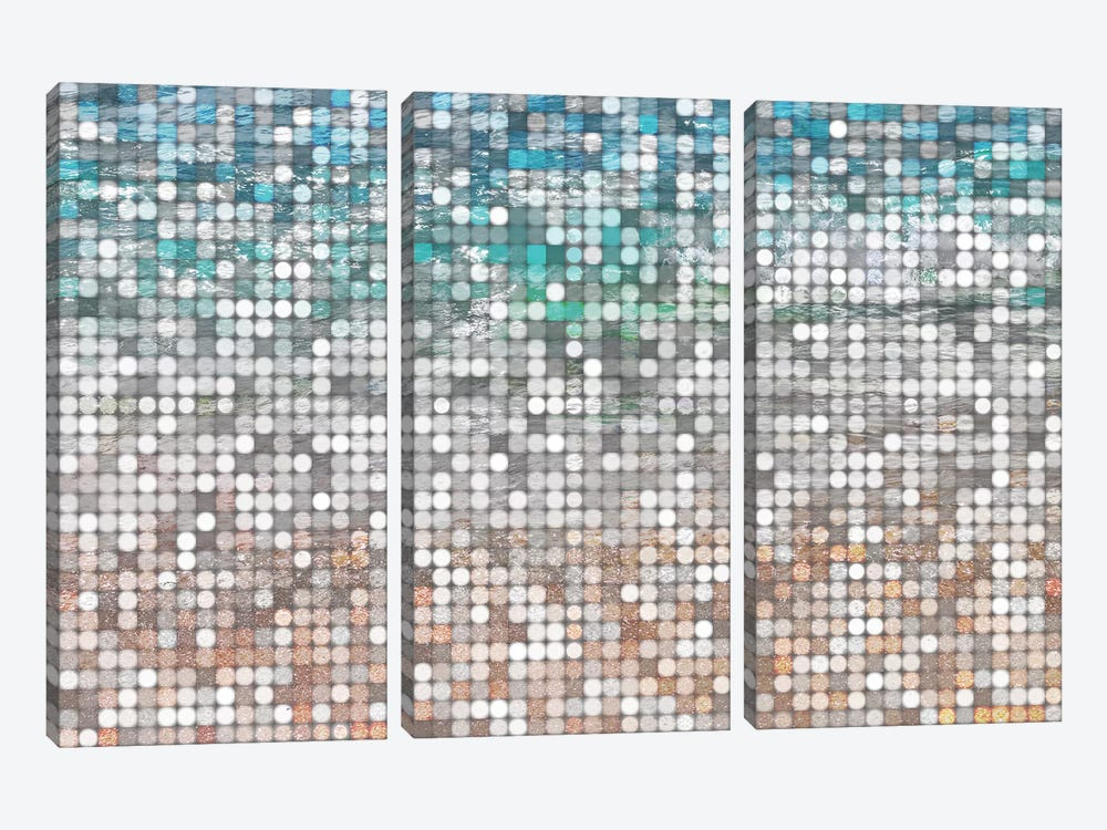 Water Surface 60 by Irena Orlov 3-piece Canvas Print