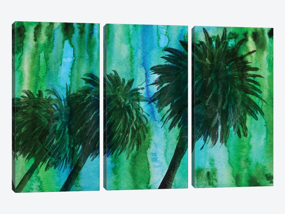 Hollywood Palms by Irena Orlov 3-piece Canvas Print