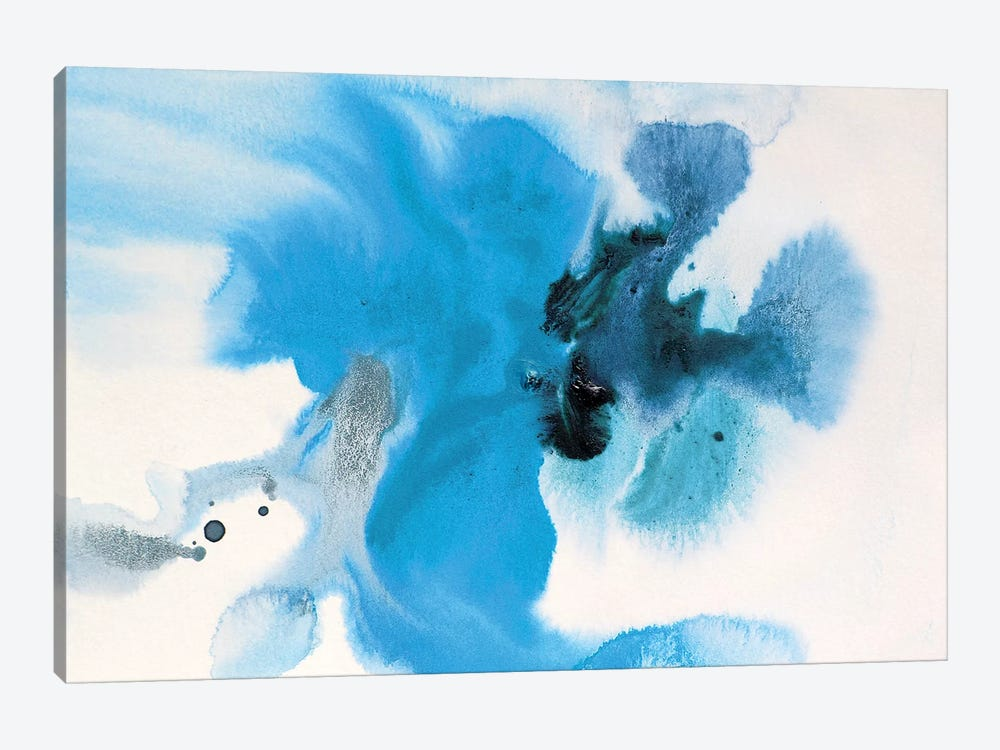 Watercolor Coastal Abstract 60 by Irena Orlov 1-piece Canvas Art Print