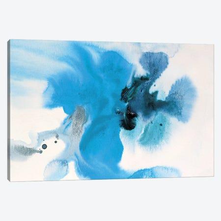 Watercolor Coastal Abstract 60 3-Piece Canvas #ORL281} by Irena Orlov Canvas Art