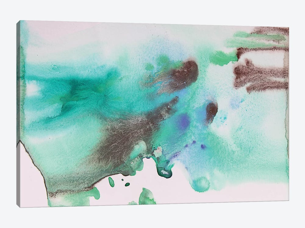 Watercolor Coastal Abstract 65 by Irena Orlov 1-piece Canvas Artwork
