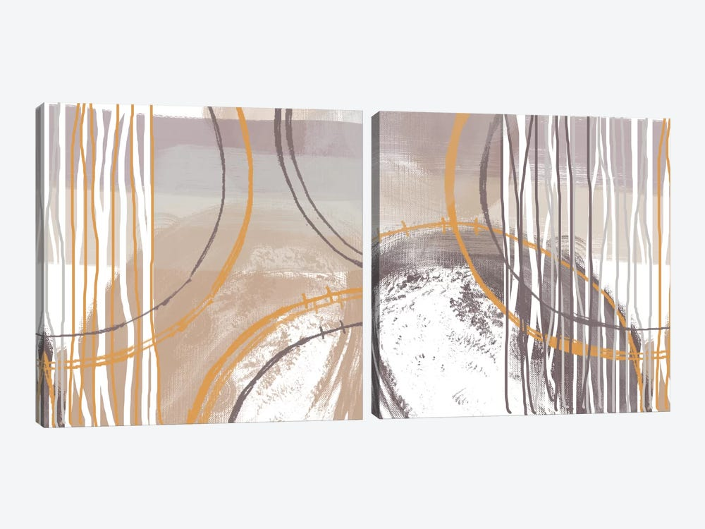 Sunset Diptych by Irena Orlov 2-piece Canvas Artwork