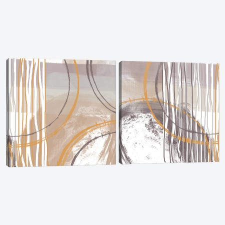 Sunset Diptych Canvas Print Set #ORL2HSET004} by Irena Orlov Art Print