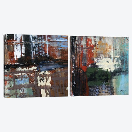 Busy Diptych Canvas Print Set #ORL2HSET005} by Irena Orlov Canvas Print