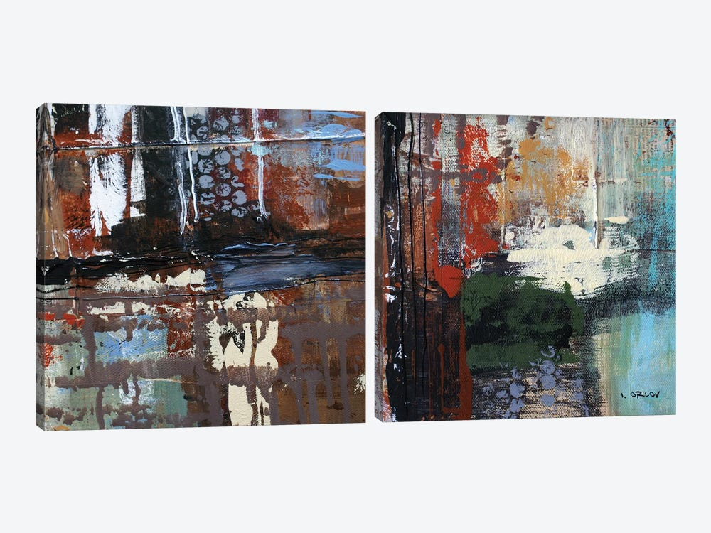 Busy Diptych by Irena Orlov 2-piece Art Print
