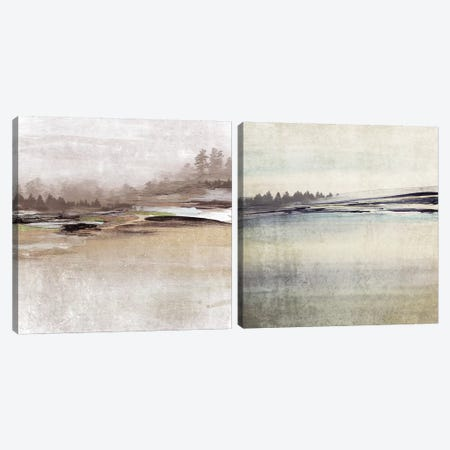 Forest Glimpse Diptych Canvas Print Set #ORL2HSET006} by Irena Orlov Art Print