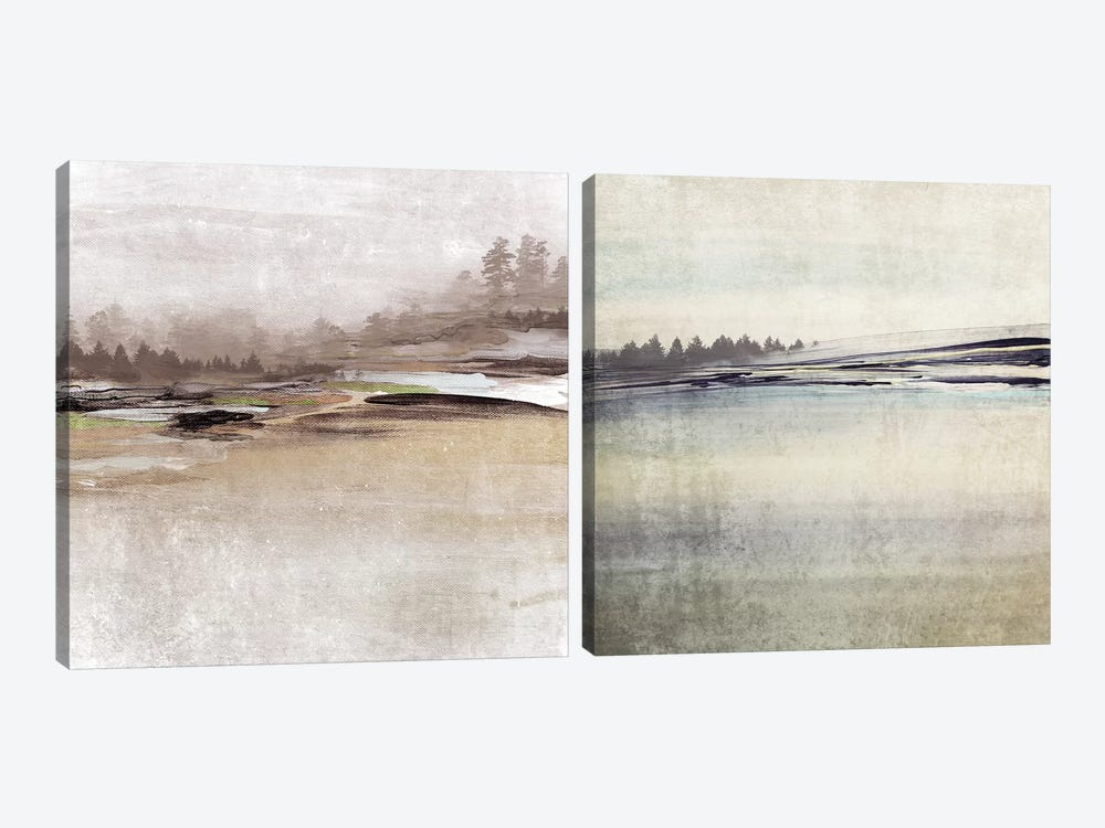 Forest Glimpse Diptych by Irena Orlov 2-piece Canvas Artwork