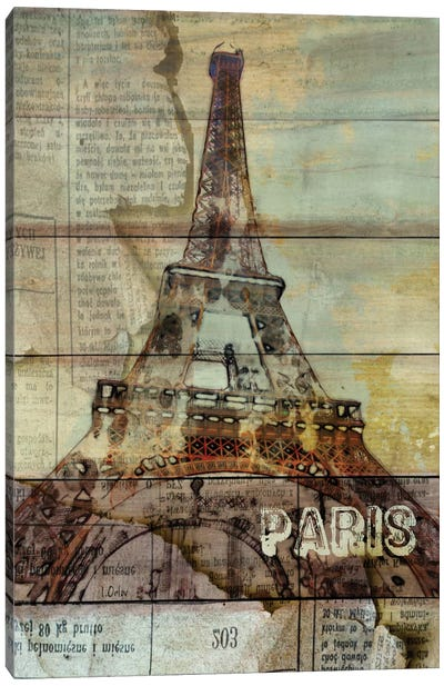 La Tour Eiffel, Paris, France Canvas Art Print