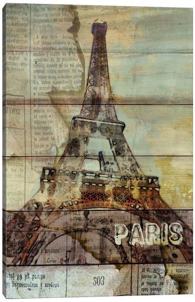 La Tour Eiffel, Paris, France Canvas Art Print