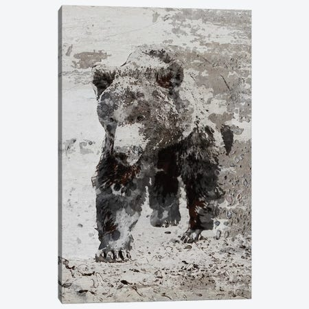 Brown Bear Walking Canvas Print #ORL328} by Irena Orlov Art Print