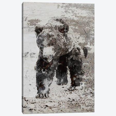 Brown Bear Walking Canvas Print #ORL328} by Irena Orlov Art Print