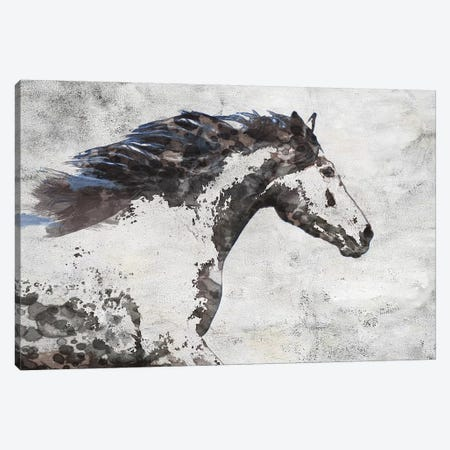 Brown Blue Majestic Horse  3-Piece Canvas #ORL329} by Irena Orlov Canvas Art Print