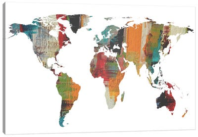 Painted World Map II Canvas Art Print