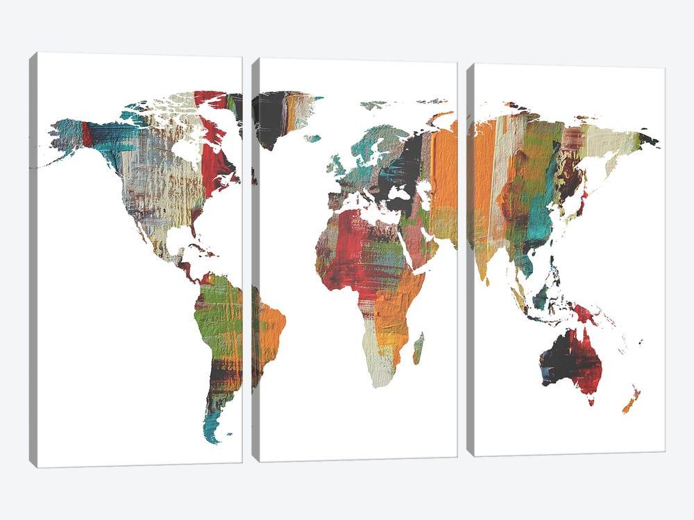 Painted World Map II by Irena Orlov 3-piece Art Print