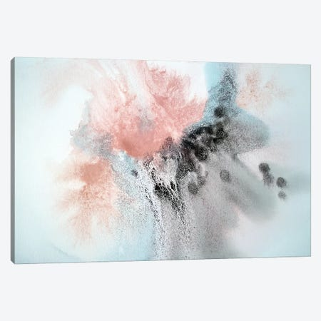 Pink Blue Brown Grey Watercolor Abstract Splash I Canvas Print #ORL377} by Irena Orlov Canvas Art Print