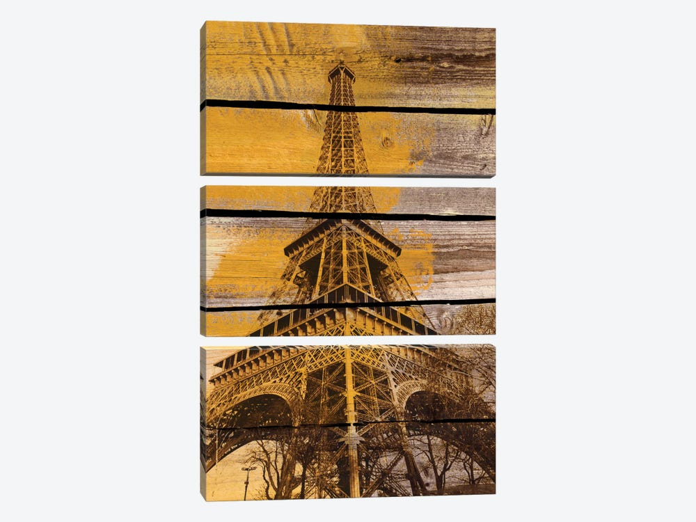 Old Eiffel Tower by Irena Orlov 3-piece Canvas Wall Art