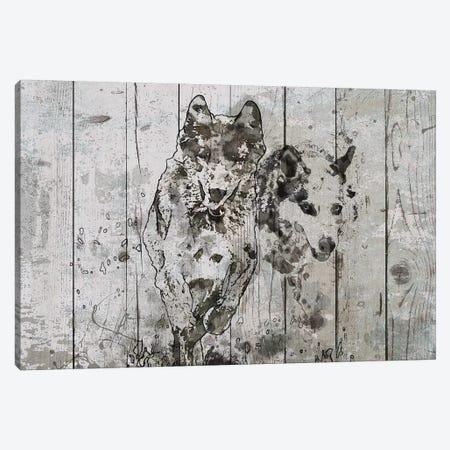 Running Wolfs III 3-Piece Canvas #ORL394} by Irena Orlov Canvas Print