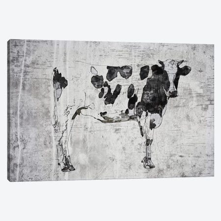 Rustic Cow Canvas Print #ORL395} by Irena Orlov Canvas Print