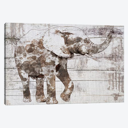 Rustic Elephant III Canvas Print #ORL398} by Irena Orlov Canvas Wall Art