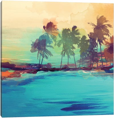 Palm Island I Canvas Art Print